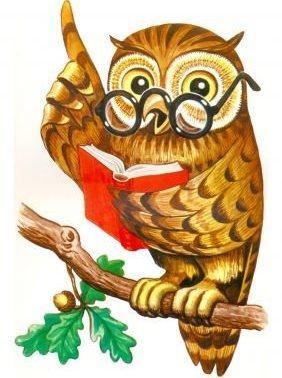 Картинка умная сова с указкой